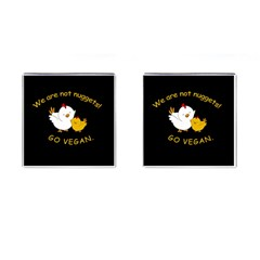 Go Vegan   Cute Chick  Cufflinks (square) by Valentinaart