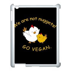 Go Vegan   Cute Chick  Apple Ipad 3/4 Case (white) by Valentinaart