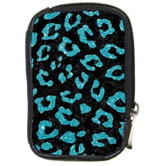 Skin5 Black Marble & Turquoise Glitter Compact Camera Cases by trendistuff