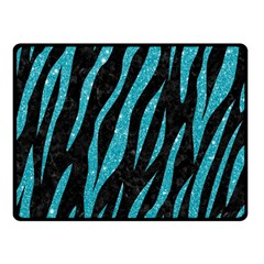 Skin3 Black Marble & Turquoise Glitter (r) Double Sided Fleece Blanket (small)  by trendistuff