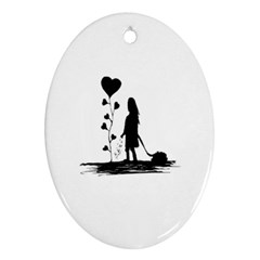 Sowing Love Concept Illustration Small Ornament (oval) by dflcprints