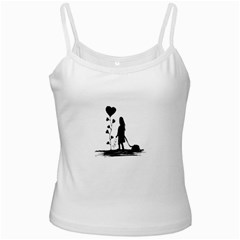 Sowing Love Concept Illustration Small White Spaghetti Tank by dflcprints