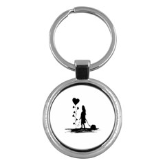 Sowing Love Concept Illustration Small Key Chains (round)  by dflcprints
