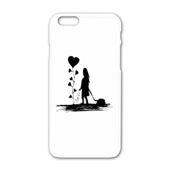 Sowing Love Concept Illustration Small Apple Iphone 6/6s White Enamel Case by dflcprints