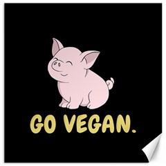 Go Vegan   Cute Pig Canvas 16  X 16   by Valentinaart