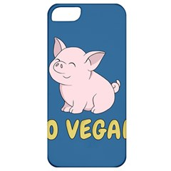 Go Vegan   Cute Pig Apple Iphone 5 Classic Hardshell Case by Valentinaart