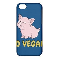 Go Vegan   Cute Pig Apple Iphone 5c Hardshell Case by Valentinaart