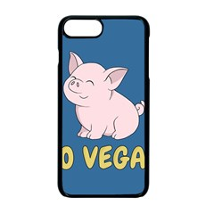 Go Vegan   Cute Pig Apple Iphone 7 Plus Seamless Case (black) by Valentinaart