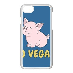 Go Vegan   Cute Pig Apple Iphone 7 Seamless Case (white) by Valentinaart