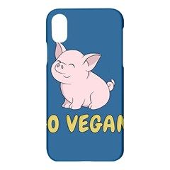 Go Vegan   Cute Pig Apple Iphone X Hardshell Case by Valentinaart