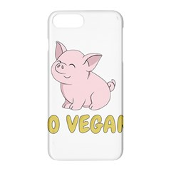 Go Vegan   Cute Pig Apple Iphone 7 Plus Hardshell Case by Valentinaart
