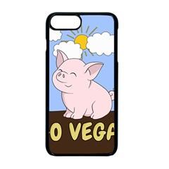 Go Vegan   Cute Pig Apple Iphone 7 Plus Seamless Case (black) by Valentinaart