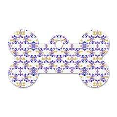 Decorative Ornate Pattern Dog Tag Bone (two Sides) by dflcprints
