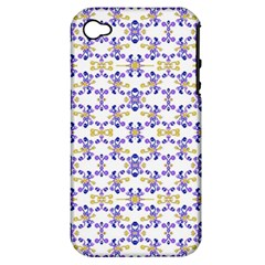 Decorative Ornate Pattern Apple Iphone 4/4s Hardshell Case (pc+silicone) by dflcprints
