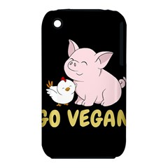 Go Vegan   Cute Pig And Chicken Iphone 3s/3gs by Valentinaart