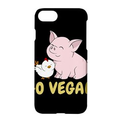Go Vegan   Cute Pig And Chicken Apple Iphone 7 Hardshell Case by Valentinaart