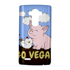 Go Vegan   Cute Pig And Chicken Lg G4 Hardshell Case by Valentinaart