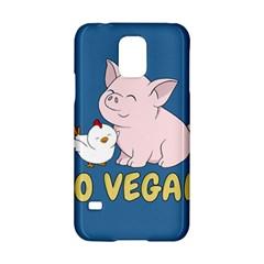 Go Vegan   Cute Pig And Chicken Samsung Galaxy S5 Hardshell Case  by Valentinaart