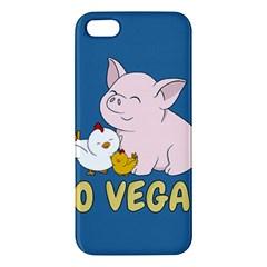 Go Vegan   Cute Pig And Chicken Apple Iphone 5 Premium Hardshell Case by Valentinaart