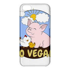 Go Vegan   Cute Pig And Chicken Apple Iphone 5c Hardshell Case by Valentinaart