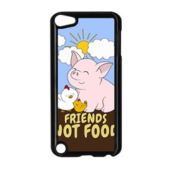 Friends Not Food   Cute Pig And Chicken Apple Ipod Touch 5 Case (black) by Valentinaart