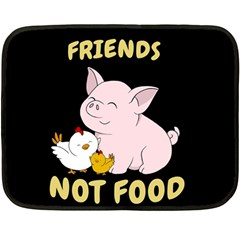 Friends Not Food   Cute Pig And Chicken Fleece Blanket (mini) by Valentinaart