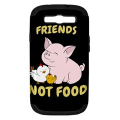 Friends Not Food   Cute Pig And Chicken Samsung Galaxy S Iii Hardshell Case (pc+silicone) by Valentinaart