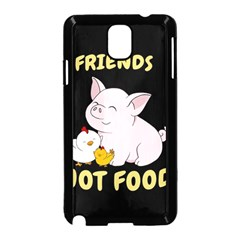Friends Not Food   Cute Pig And Chicken Samsung Galaxy Note 3 Neo Hardshell Case (black) by Valentinaart