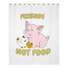Friends Not Food   Cute Pig And Chicken Shower Curtain 60  X 72  (medium)  by Valentinaart