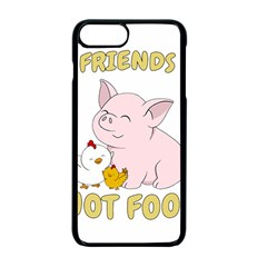 Friends Not Food   Cute Pig And Chicken Apple Iphone 7 Plus Seamless Case (black) by Valentinaart
