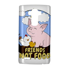 Friends Not Food   Cute Pig And Chicken Lg G4 Hardshell Case by Valentinaart