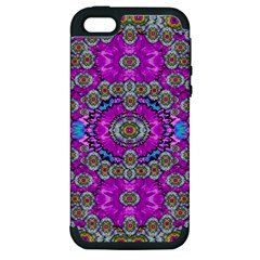 Spring Time In Colors And Decorative Fantasy Bloom Apple Iphone 5 Hardshell Case (pc+silicone) by pepitasart