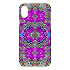 Spring Time In Colors And Decorative Fantasy Bloom Apple Iphone X Hardshell Case by pepitasart