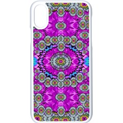 Spring Time In Colors And Decorative Fantasy Bloom Apple Iphone X Seamless Case (white) by pepitasart