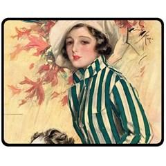 Cosmopolitan Fc November 1917 Double Sided Fleece Blanket (medium)  by vintage2030