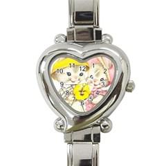 Rabbits 1731749 1920 Heart Italian Charm Watch by vintage2030