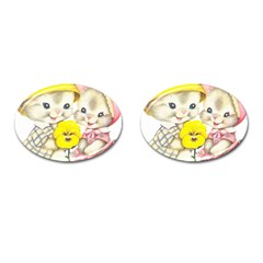 Rabbits 1731749 1920 Cufflinks (oval) by vintage2030