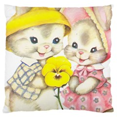 Rabbits 1731749 1920 Large Cushion Case (two Sides) by vintage2030