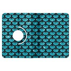 Scales3 Black Marble & Turquoise Glitter Kindle Fire Hdx Flip 360 Case by trendistuff