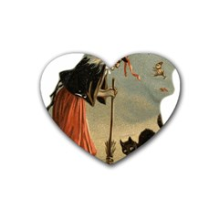 Witch 1461961 1920 Heart Coaster (4 Pack)  by vintage2030