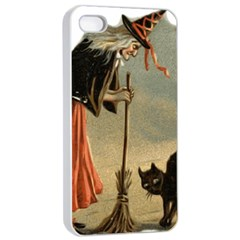 Witch 1461961 1920 Apple Iphone 4/4s Seamless Case (white) by vintage2030