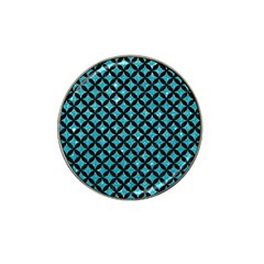 Circles3 Black Marble & Turquoise Glitter Hat Clip Ball Marker (4 Pack) by trendistuff