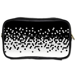 Flat Tech Camouflage Black And White Toiletries Bags 2 Side by jumpercat