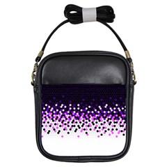 Flat Tech Camouflage Reverse Purple Girls Sling Bags by jumpercat