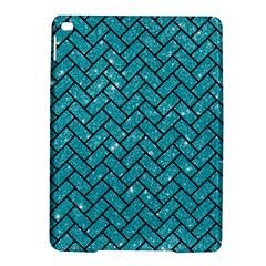 Brick2 Black Marble & Turquoise Glitter Ipad Air 2 Hardshell Cases by trendistuff