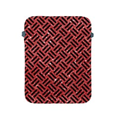 Woven2 Black Marble & Red Glitter Apple Ipad 2/3/4 Protective Soft Cases by trendistuff
