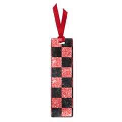 Square1 Black Marble & Red Glitter Small Book Marks by trendistuff