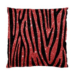 Skin4 Black Marble & Red Glitter (r) Standard Cushion Case (two Sides) by trendistuff