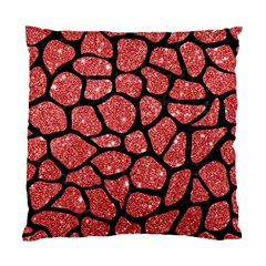 Skin1 Black Marble & Red Glitter (r) Standard Cushion Case (one Side) by trendistuff