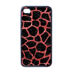 Skin1 Black Marble & Red Glitter Apple Iphone 4 Case (black) by trendistuff